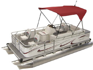 Pontoon Boats Ohio Shows, Small Pontoon, Gillgetter Sport Deluxe!